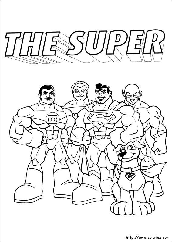 Coloriage Super Heros Squad Imprimer Coloriage Super Hros Sur