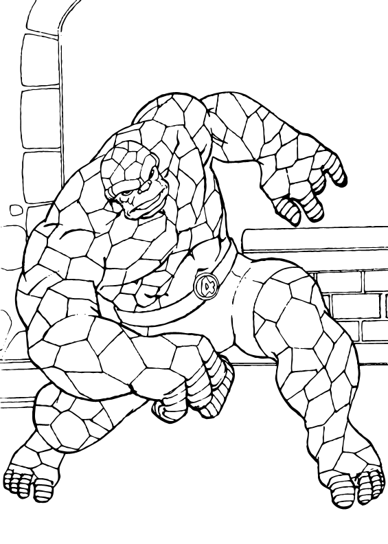 elastico superheroes coloring pages - photo#4