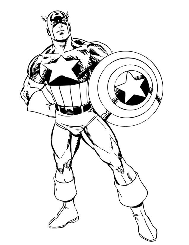 coloriage super heros marvel
