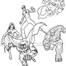 18 Dessins De Coloriage Super H 233 Ros Marvel 224 Imprimer