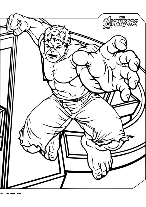 coloriage de super héros à imprimer
