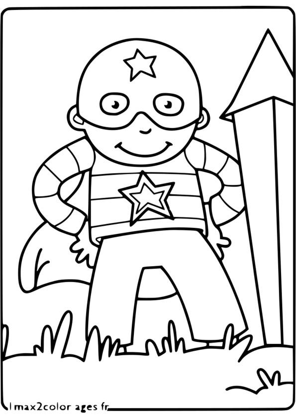dessin animé super héros bleu