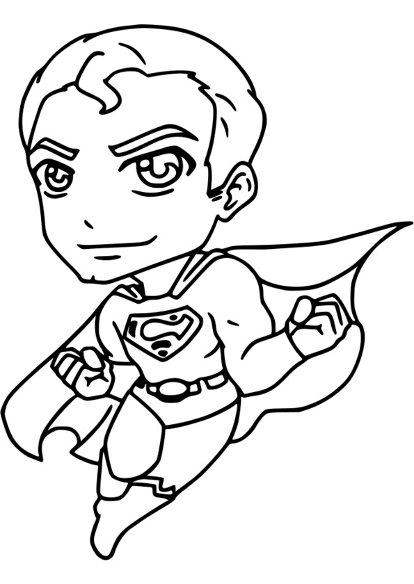 coloriage super héros sur ordinateur