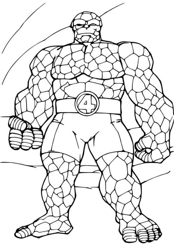 dessin a colorier super héro