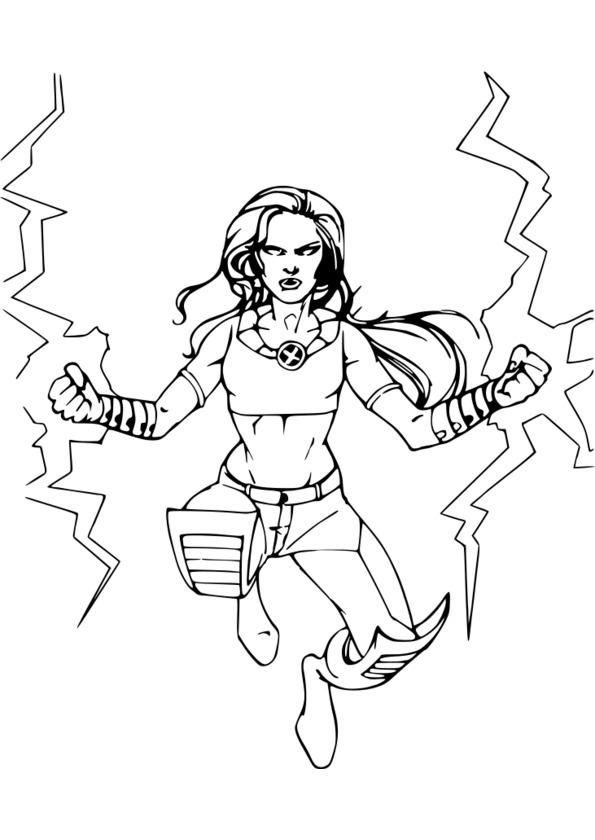 dessin super heros a imprimer