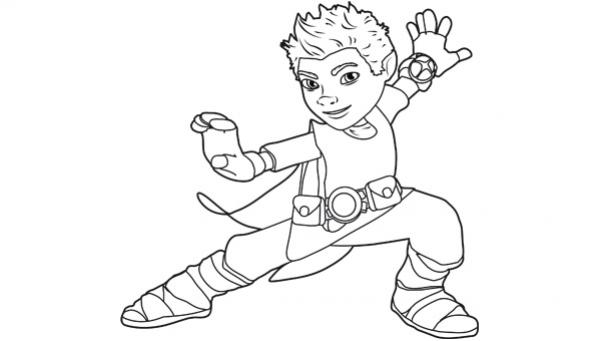 coloriage à dessiner super tom motamots imprimer