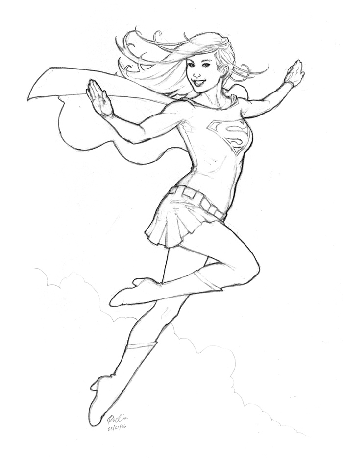 20 dessins de coloriage Supergirl