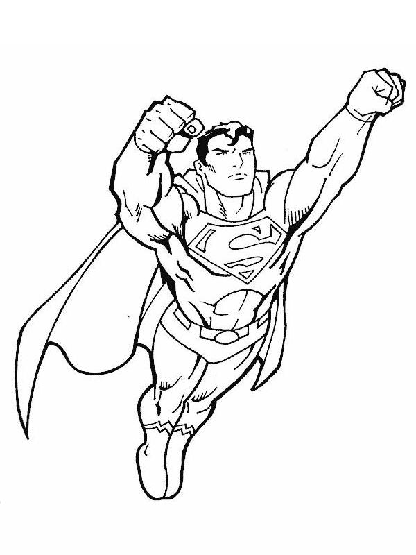 9 dessins de coloriage superman imprimer gratuit imprimer - Dessin de super hero ...