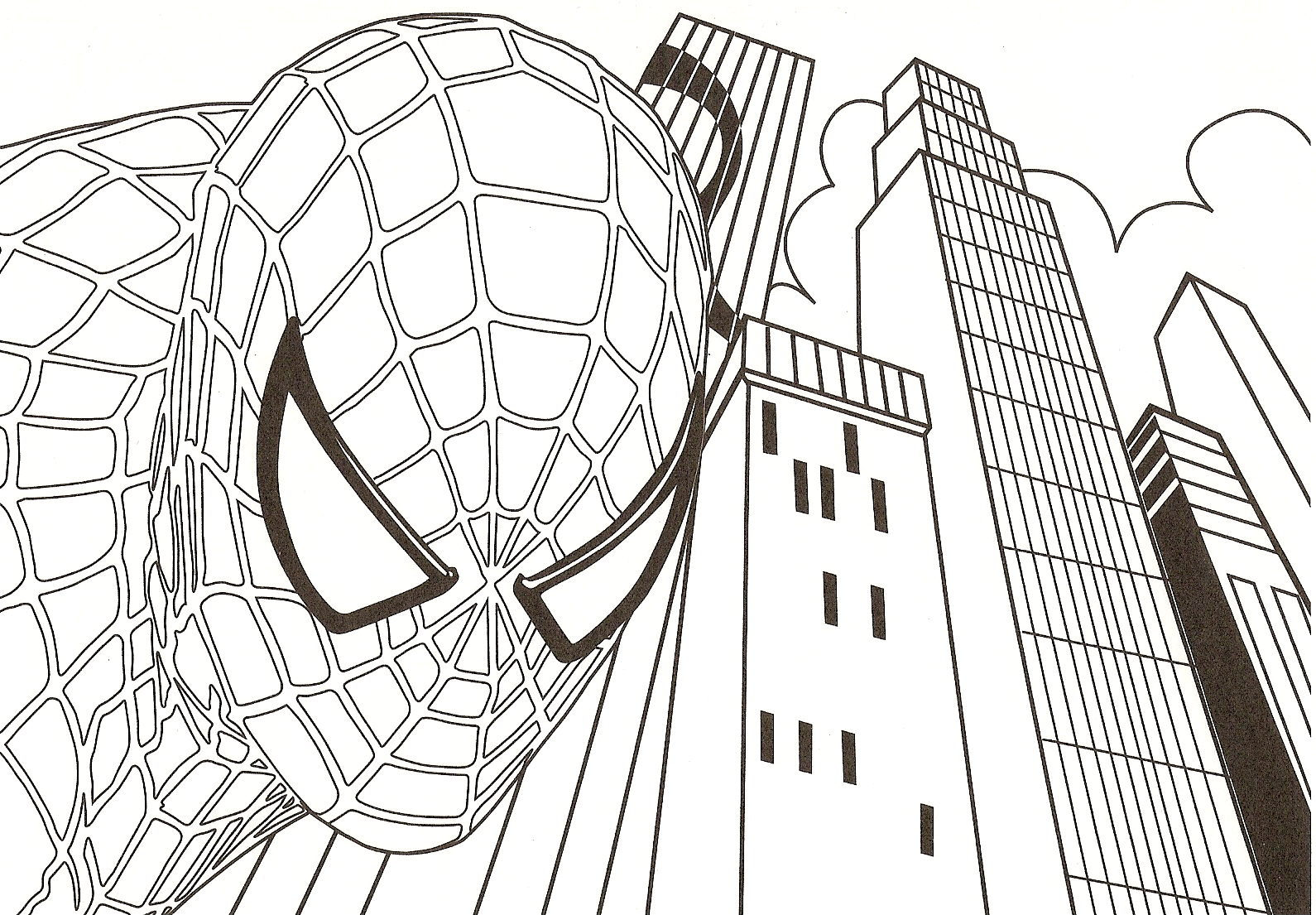 6 dessins de coloriage superman et spiderman coloriage - Dessin a imprimer de spiderman ...