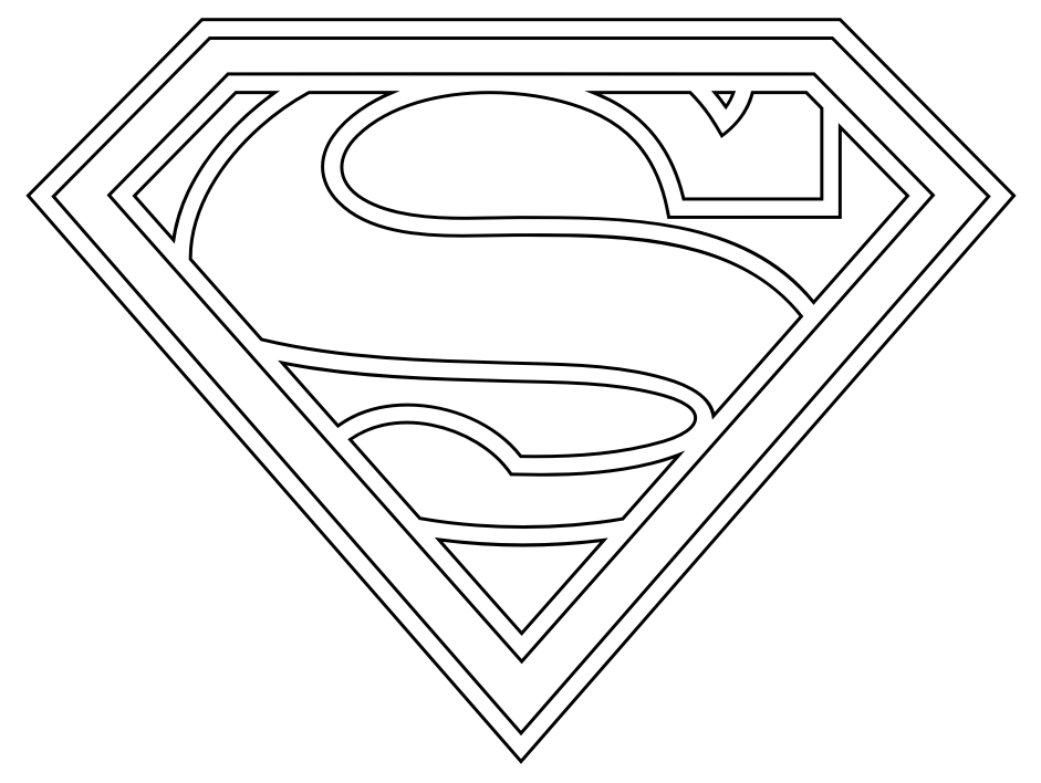 Coloriage Superman Logo à colorier - Dessin à imprimer Man Of Steel Logo Coloring Pages