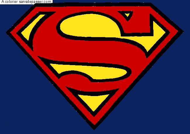 14 dessins de coloriage superman logo imprimer - Signe de superman ...