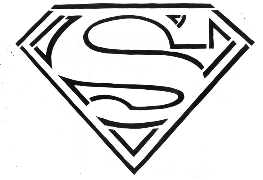 14 dessins de coloriage superman logo imprimer for Free coloring pages superman