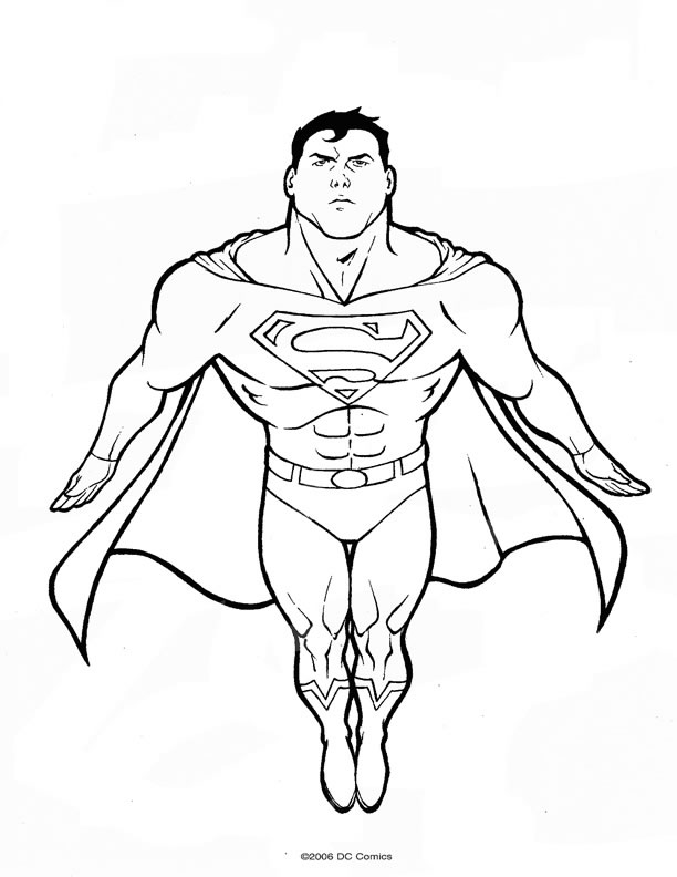 14 dessins de coloriage superman logo imprimer - Coloriage dc comics ...