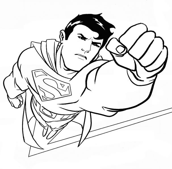 coloriage superman gratuit en ligne