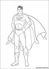coloriage superman gratuit
