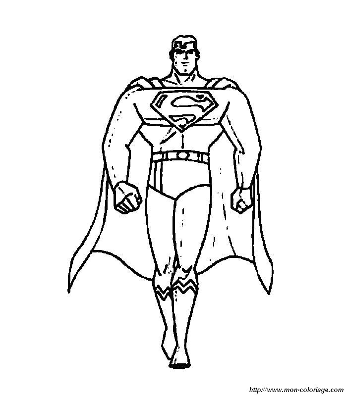 coloriage à dessiner superman lego
