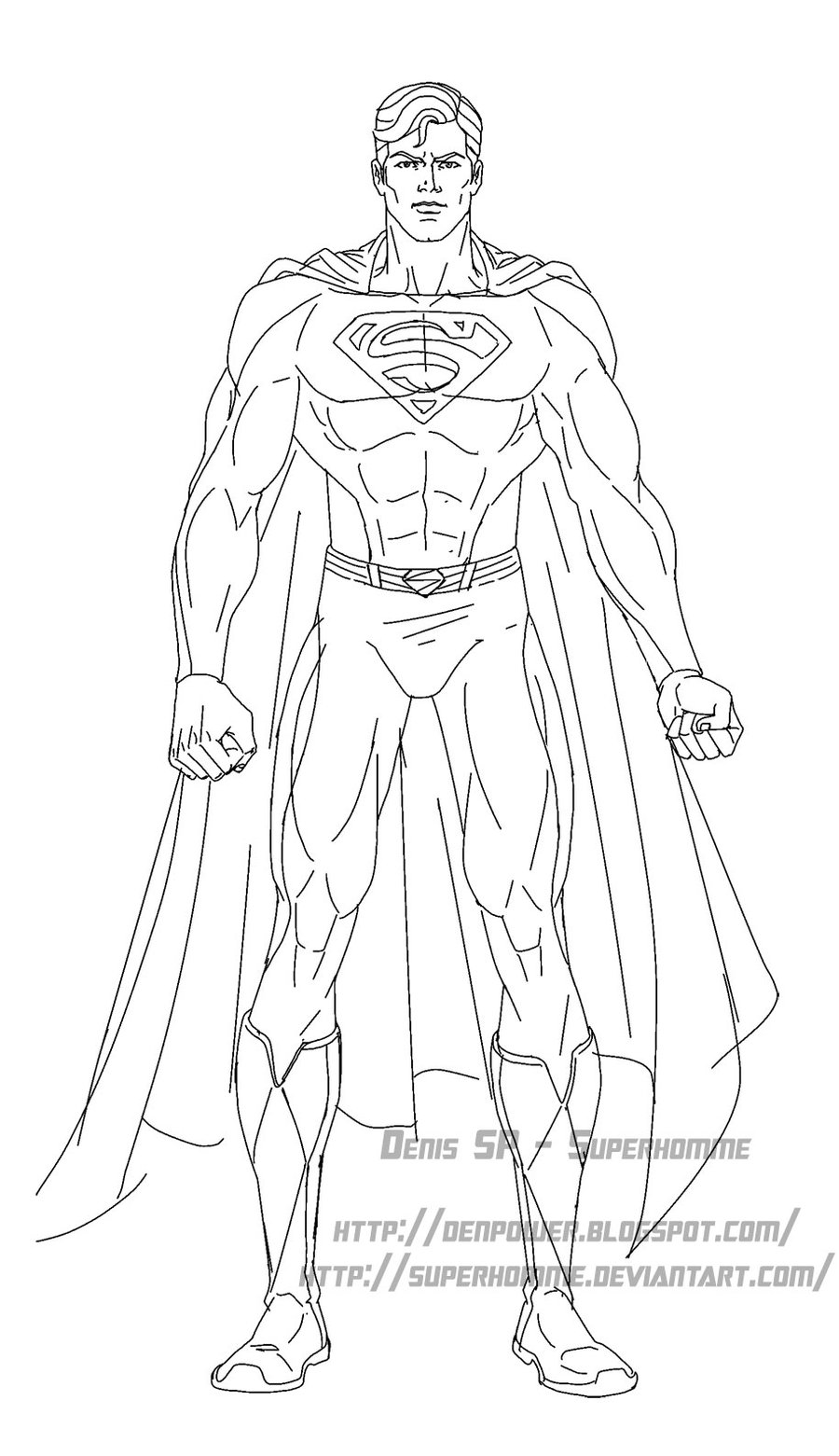 www.dessin à colorier superman