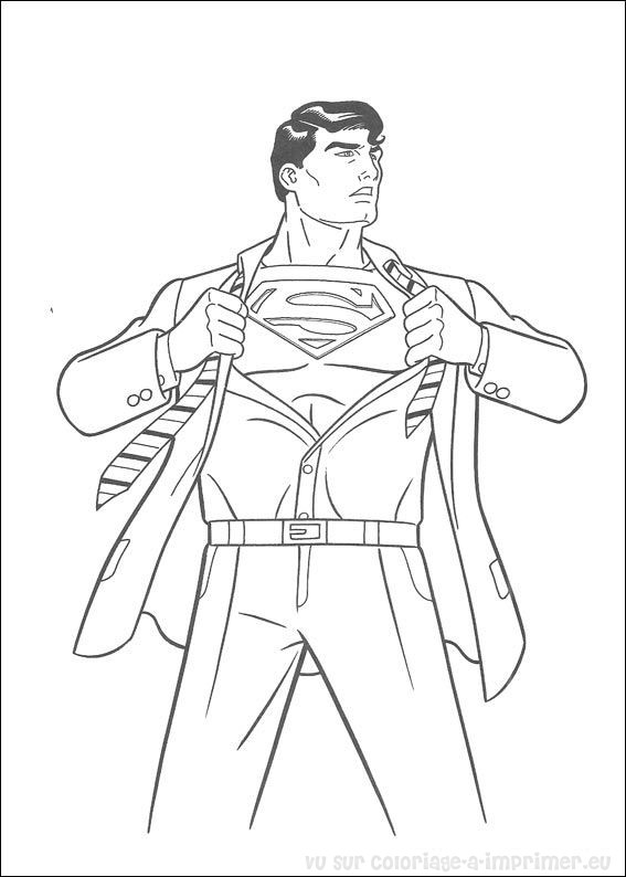 coloriage superman man of steel