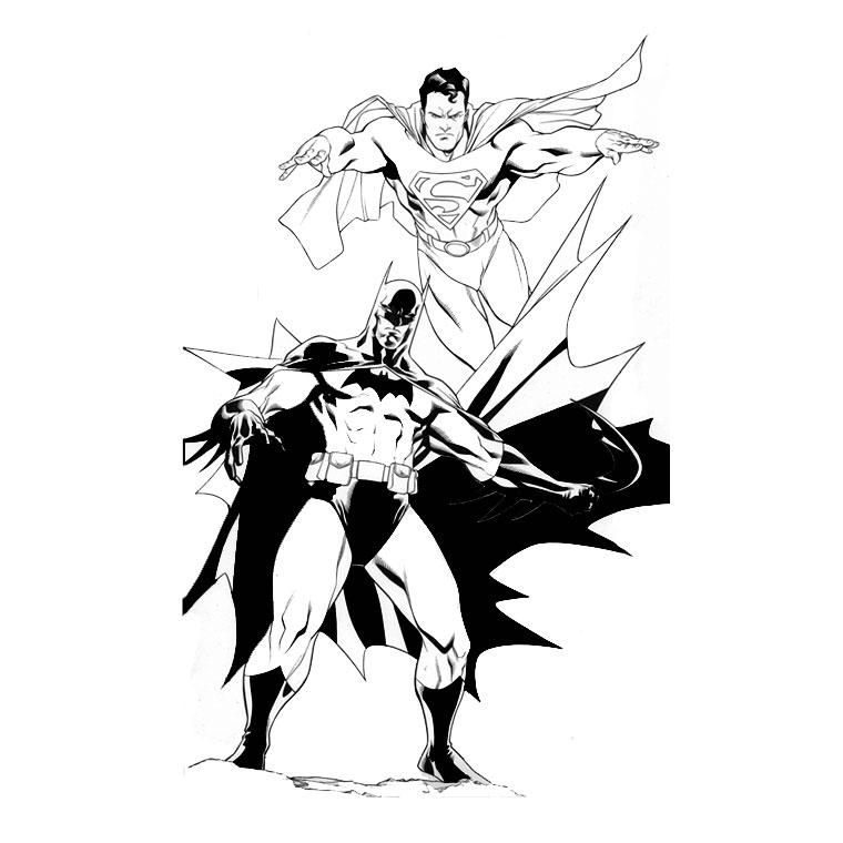 jeux coloriage à dessiner superman gratuit
