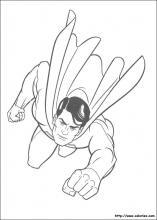 coloriage à dessiner de superman en lego