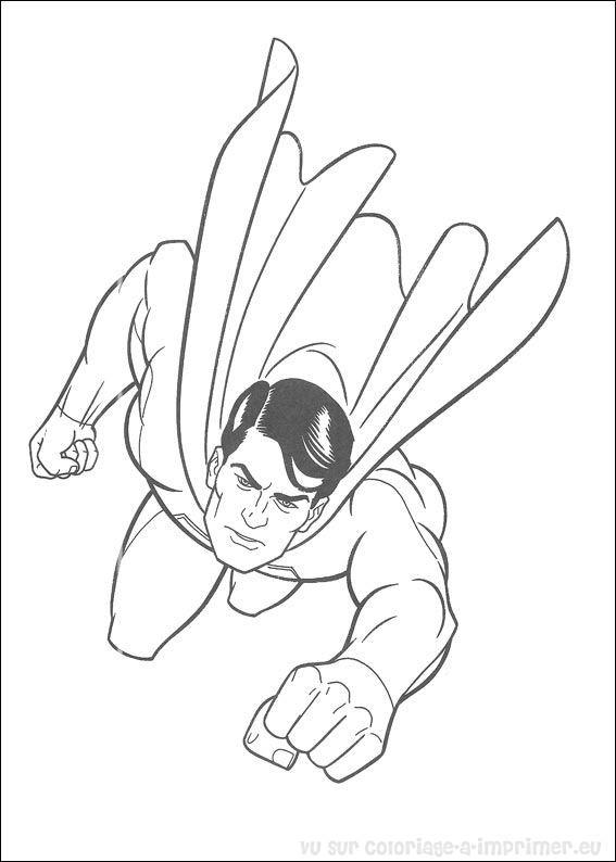 coloriage à dessiner superman gratuit à imprimer