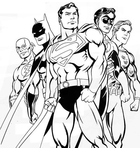 coloriage magique de superman
