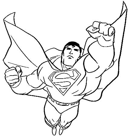 dessin à colorier superman 2