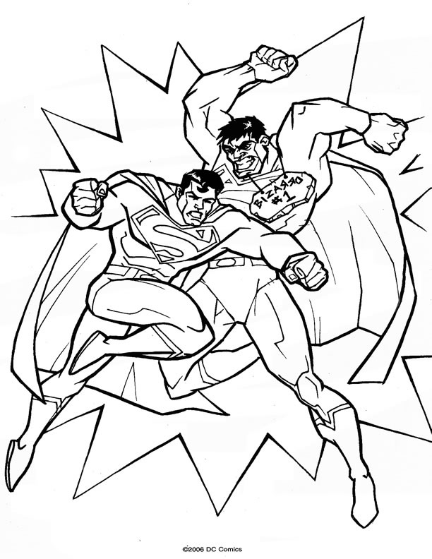dessin superman rouge