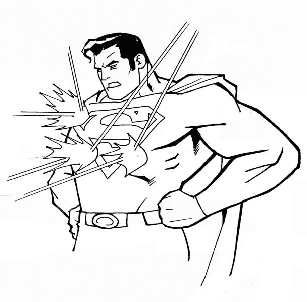 dessin de superman
