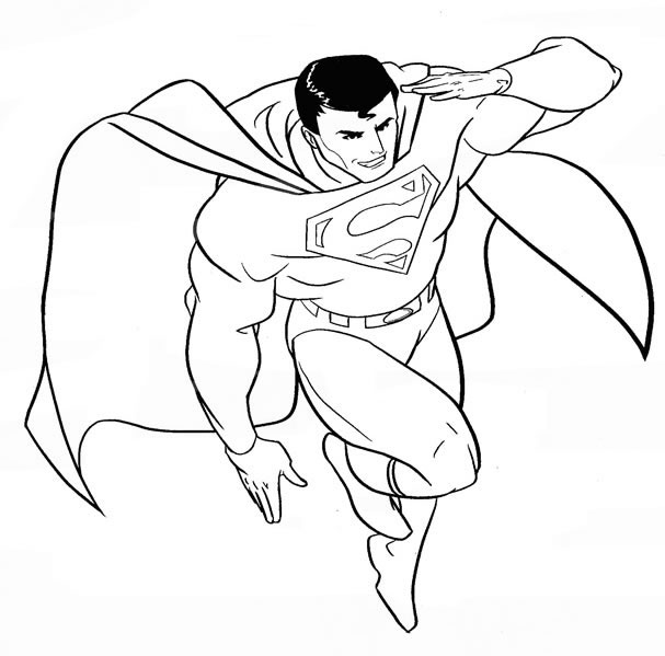 coloriage à dessiner superman rouge