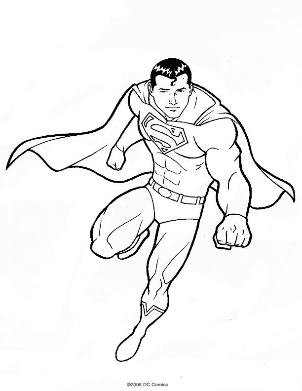 superman en coloriage à dessiner