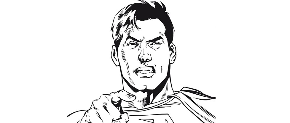 hugo l'escargot coloriage à dessiner superman