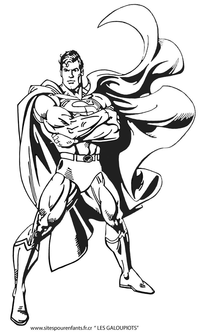 coloriage superman batman