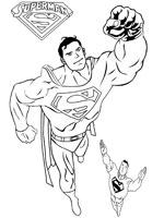 dessin de superman en lego