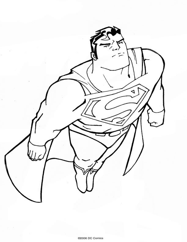 dessin superman a colorier