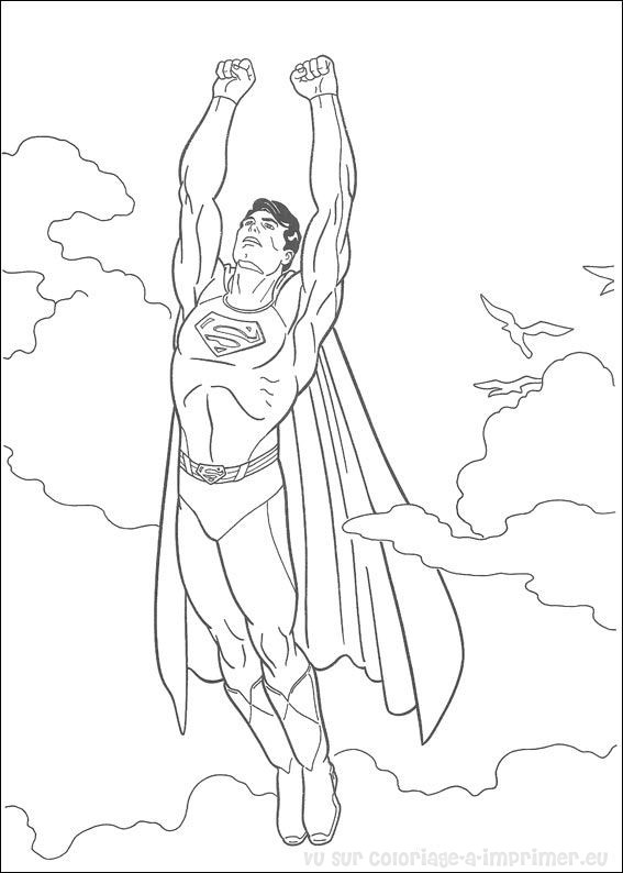 coloriage superman lego