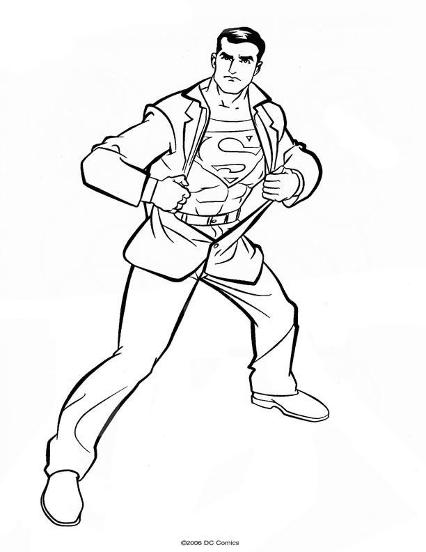 dessin de superman et batman