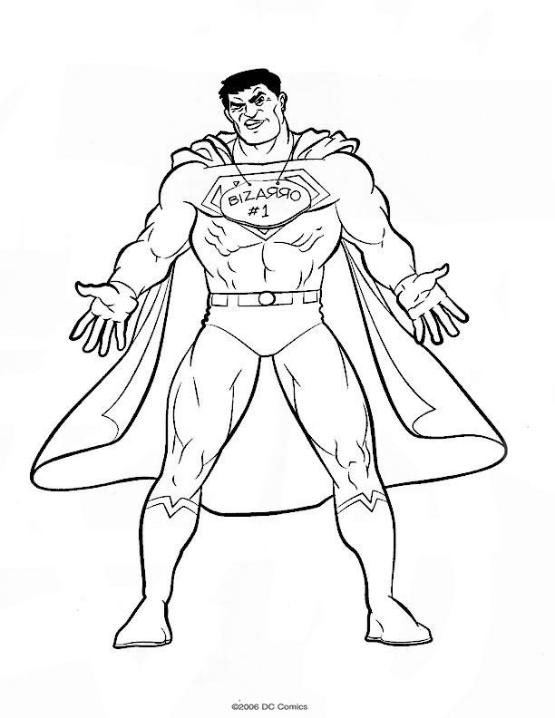 coloriage à dessiner a imprimer superman gratuit