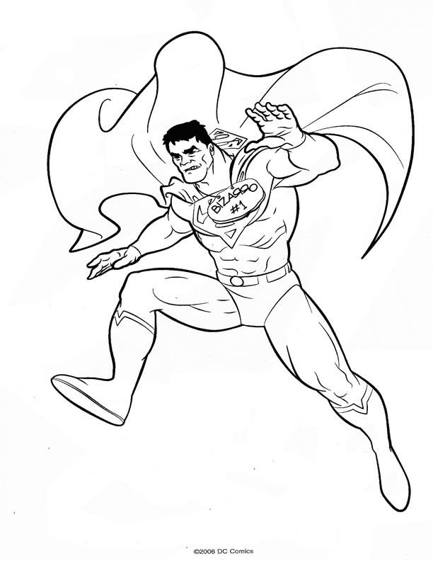 dessin magique de superman