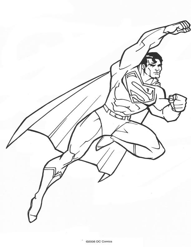 dessin à colorier superman et batman en ligne