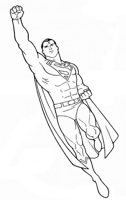 108 Dessins De Coloriage Superman à Imprimer