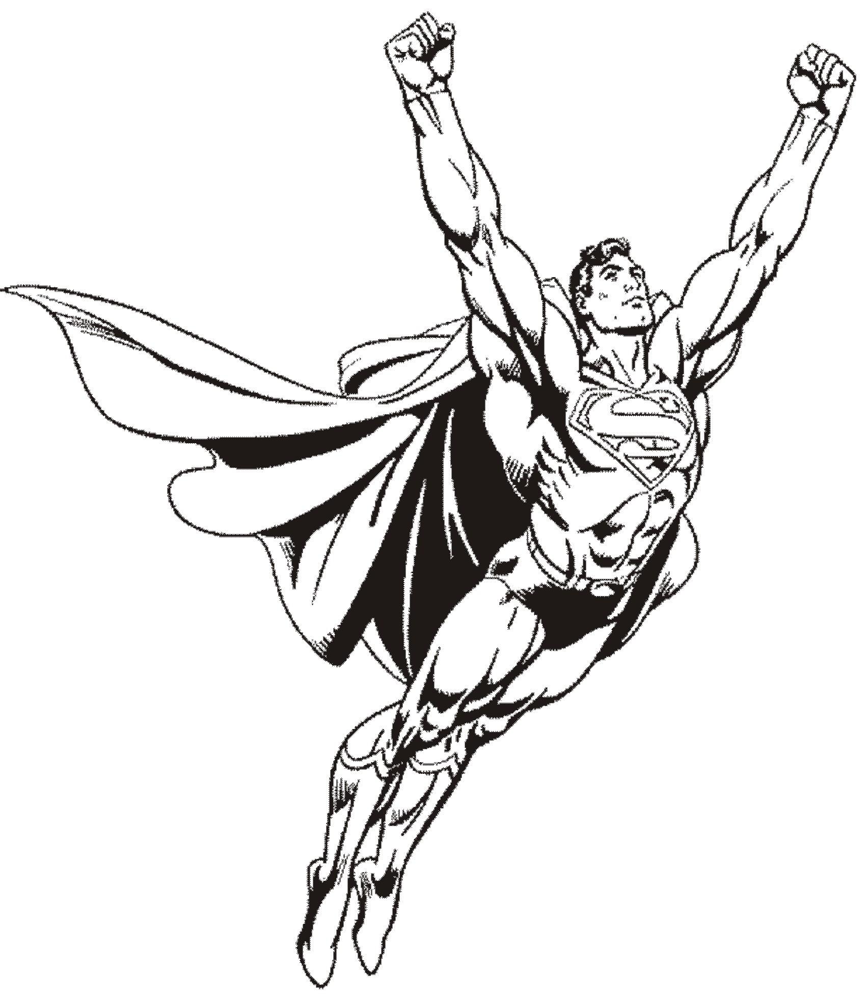 coloriage superman rouge