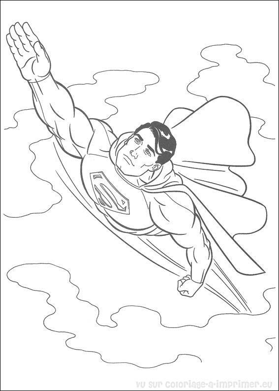 coloriage à dessiner superman gratuit en ligne