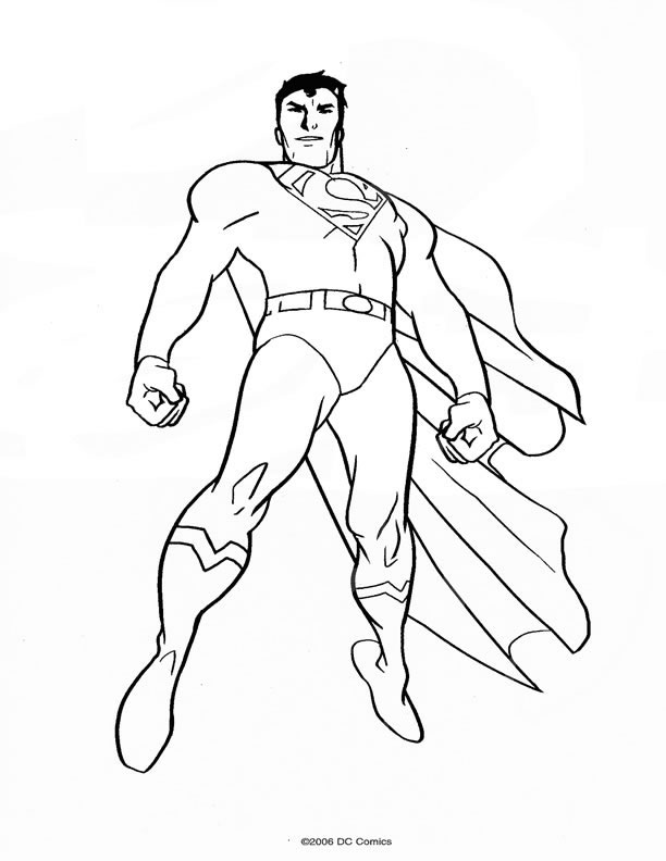 dessin � colorier a imprimer superman 3