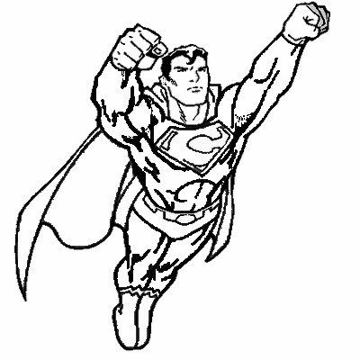 coloriage à dessiner superman logo