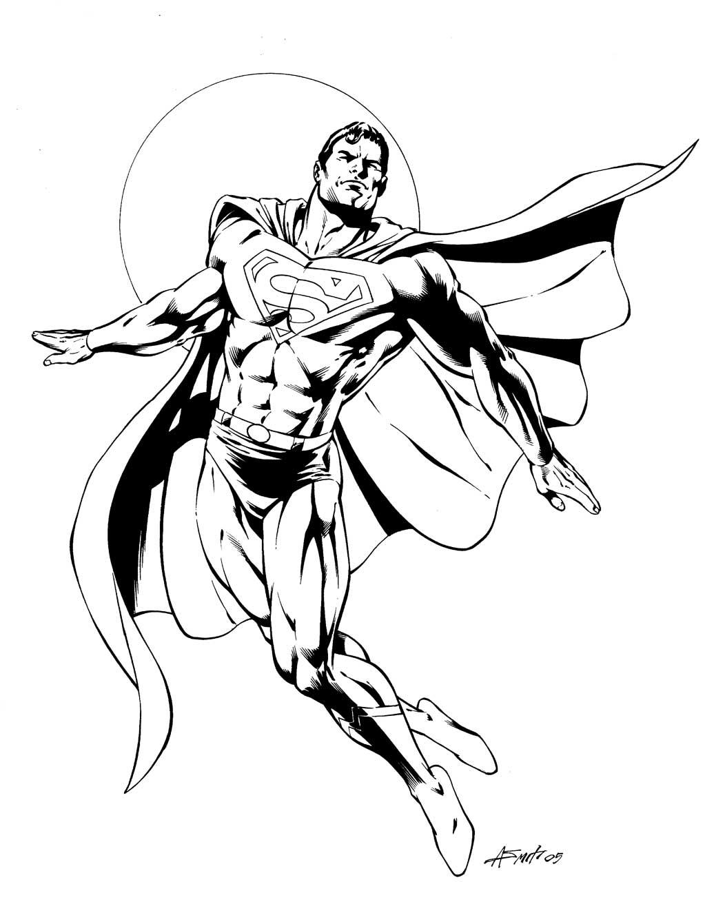 coloriage à dessiner de superman en ligne
