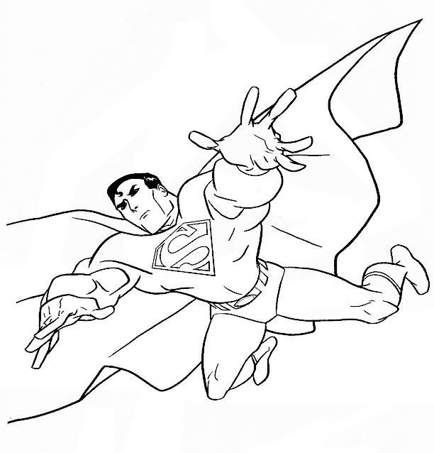 dessin superman spiderman