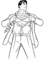 superman dessin � colorier jeux