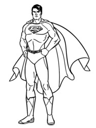 dessin à colorier superman rouge