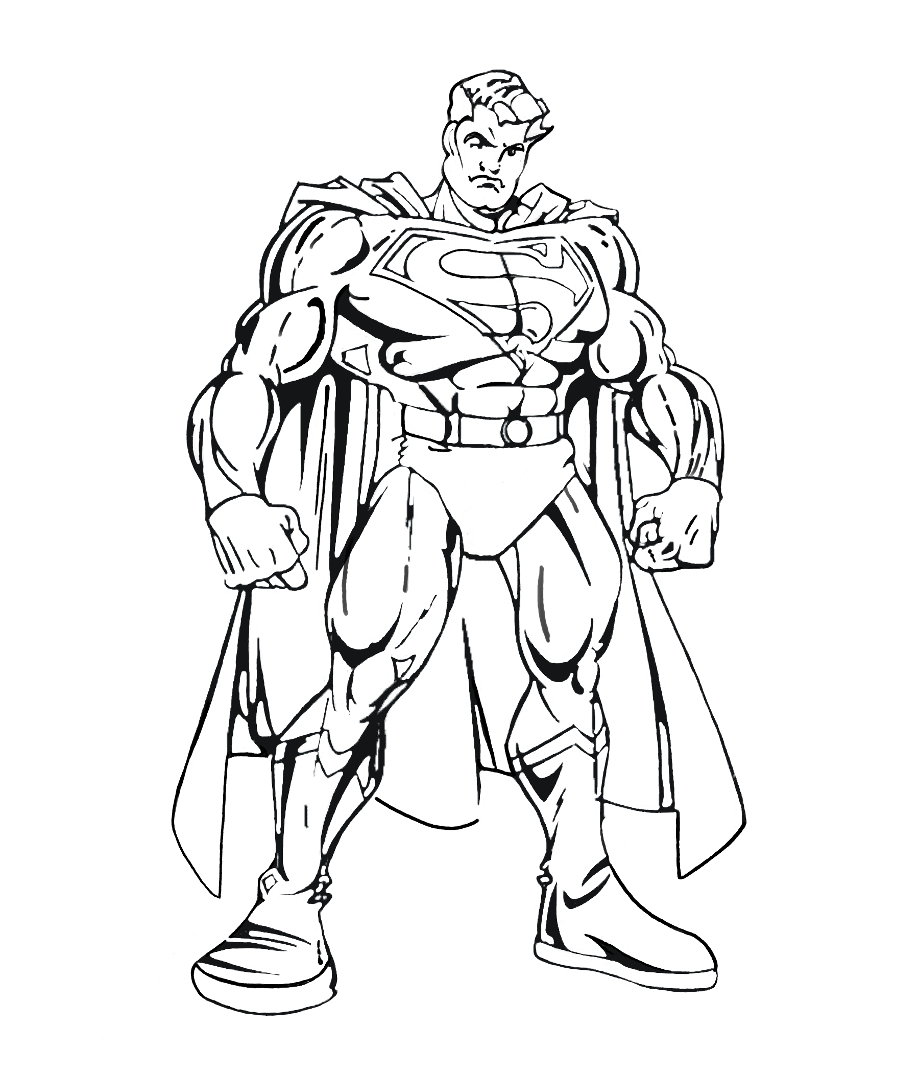 Superman coloring pages to print sketch coloring page - Superman dessin ...